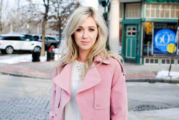 rachel barkules pink trench coat
