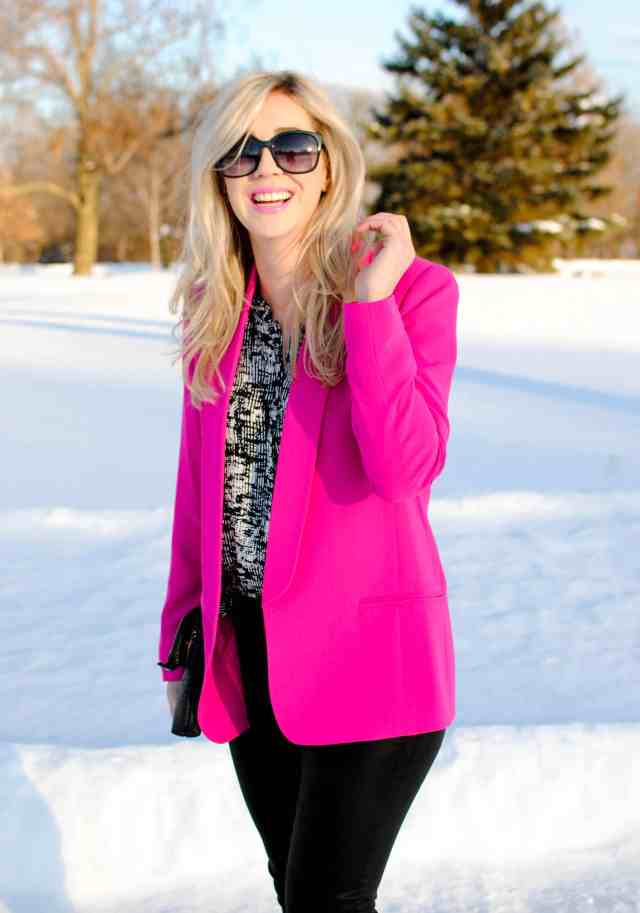 rachel barkules mural pink blazer