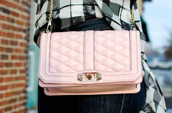 rebecca mink love handbag quartz