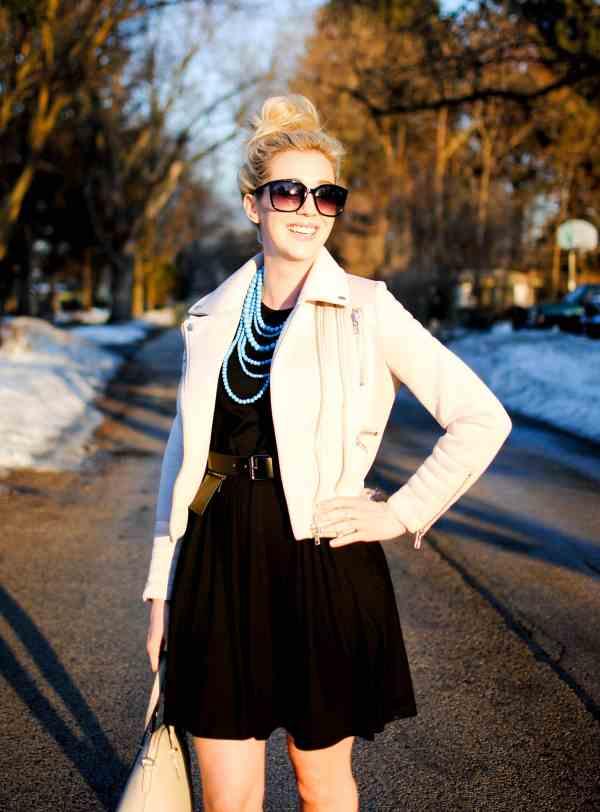 asos swing dress, glamorous jacket