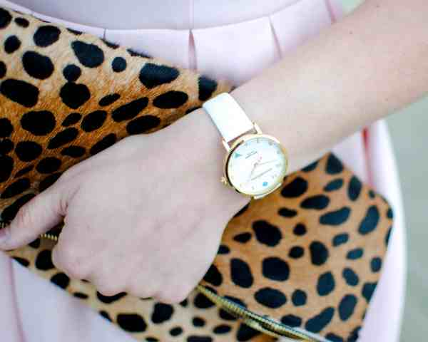 clare v clutch, kate spade watch
