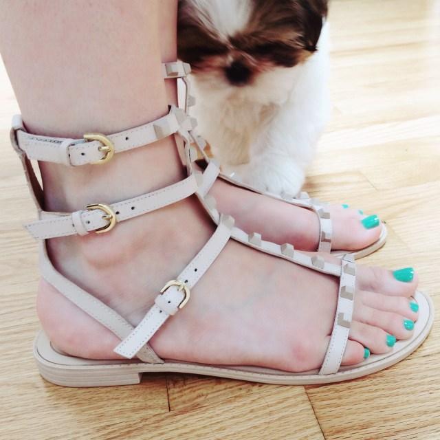 rebecca minkoff Georgina studded leather sandal