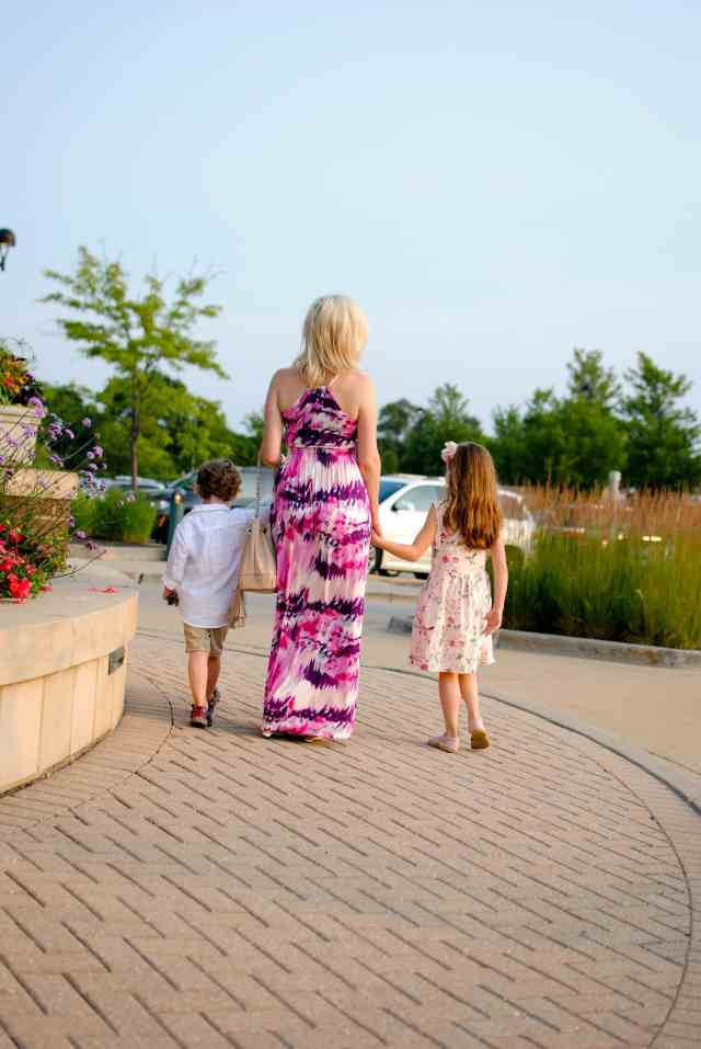 family time walking