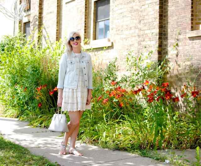 lace dress, flowers