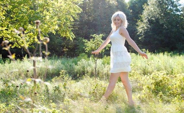 dancing in a field