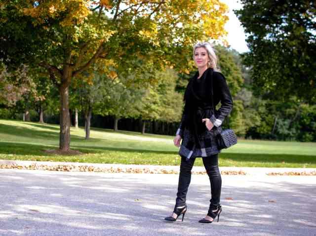 fall plaid coat