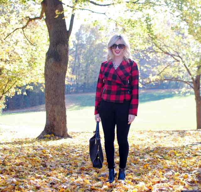 red plaid jacket, fall style