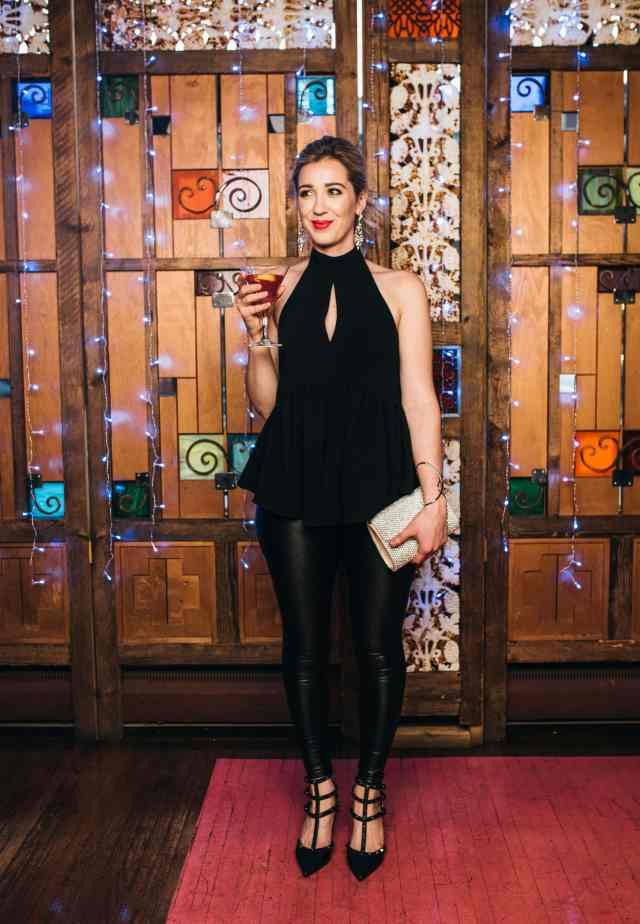 casual chic holiday party look