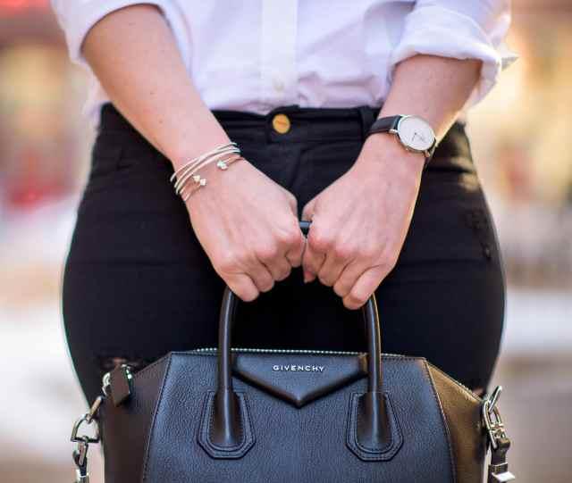 givenchy antigona, daniel wellington watch, nadri bracelets