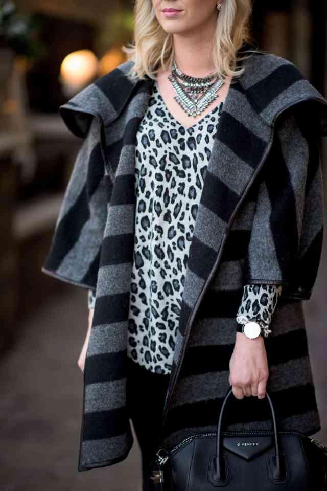 leopard print & stripe