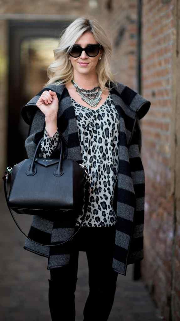 joie leopard sweater