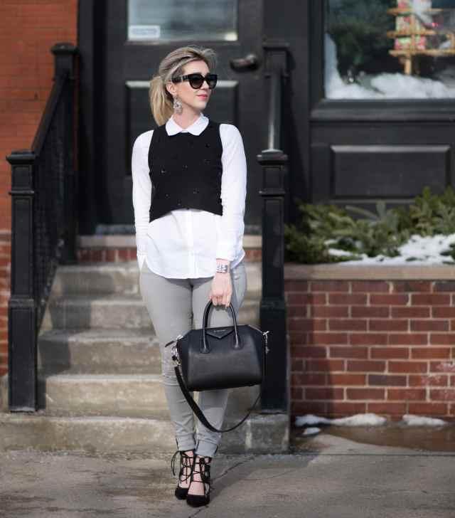 elizabeth and james vanna top, givenchy, frame denim, topshop shoes