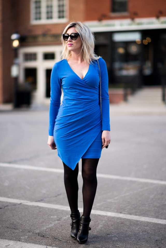 wrap rouched dress