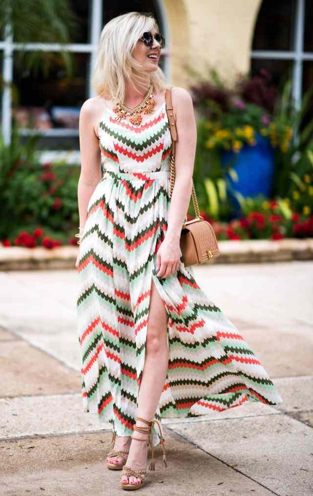 maxi dress & tassel sandals