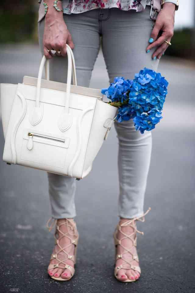 celine mini luggage, warm ivory
