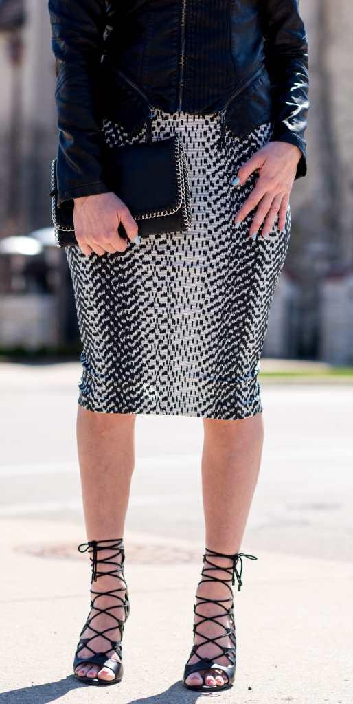 elizabeth & james pencil skirt