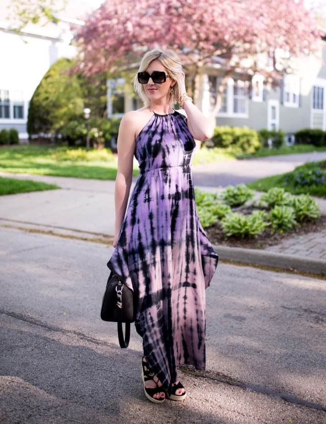 Fraiche by J tie dye maxi dress