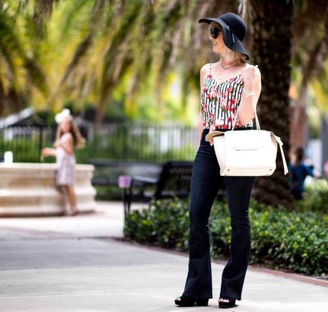 70's style flare jeans