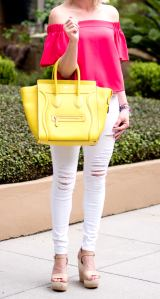 celine yellow citron mini luggage