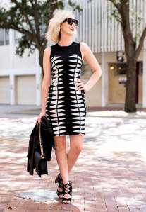 Adelyn Rae Body-Con Sweater Dress