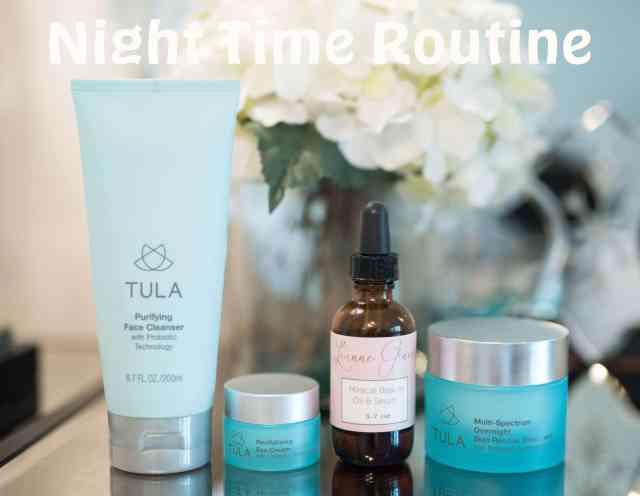 skin care night time routine