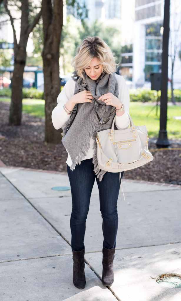 free people Asymmetrical Fringed Muffler