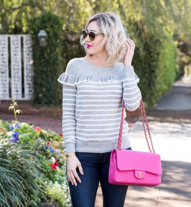 Chanel hot pink bag