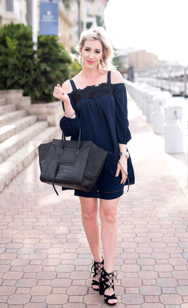 Chelsea28 cold shoulder dress