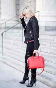 Givenchy Leather Zip Front Jacket Dupe