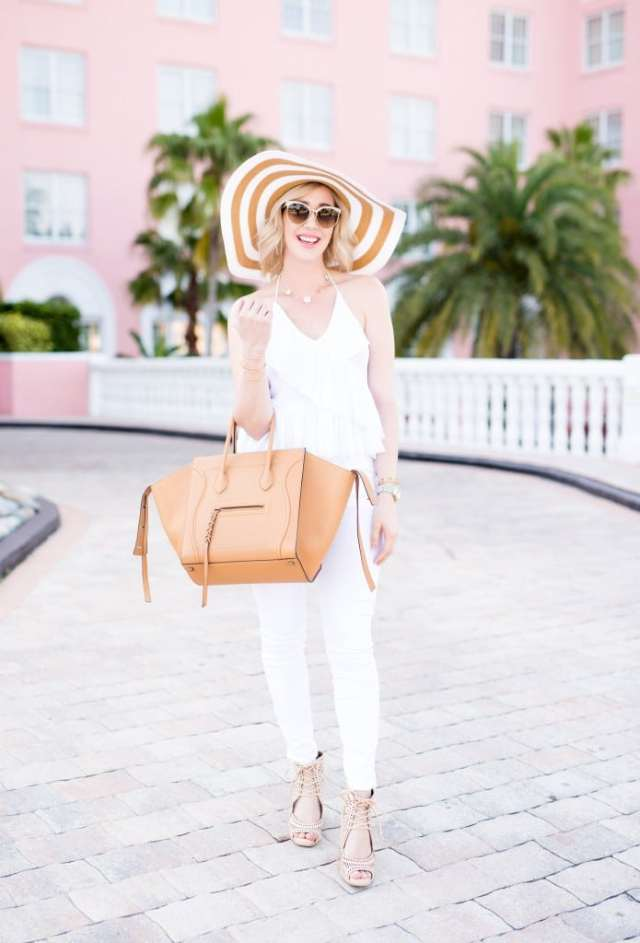 high waisted white denim