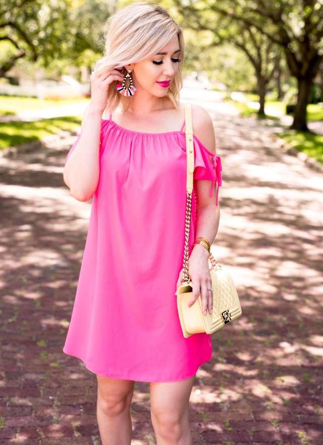 A by Amanda Elsie Cold Shoulder Dress