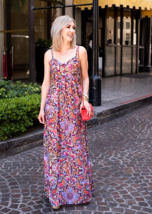 felicity & coco Woven Maxi Dress