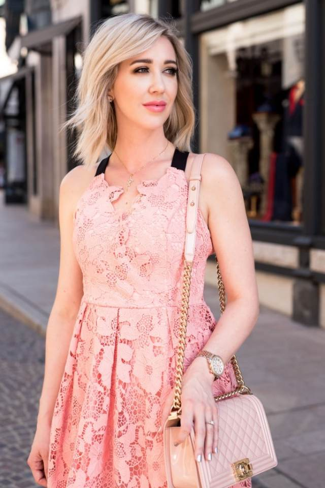 Adelyn Rae fit & flare dress