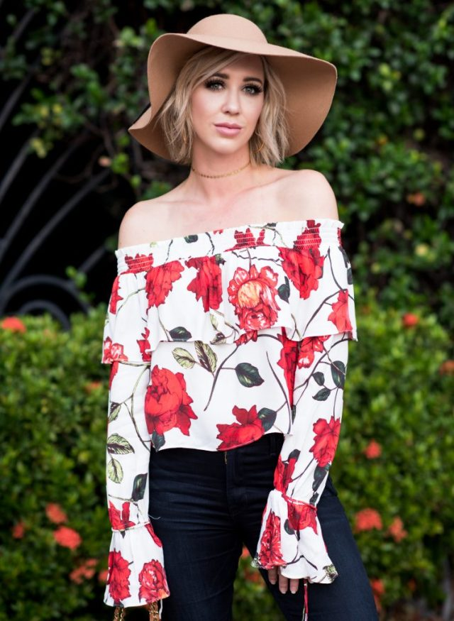 AFRM Reese Off the Shoulder Top & Scarf