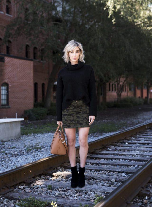 Rebecca minkoff Dove Camo Miniskirt