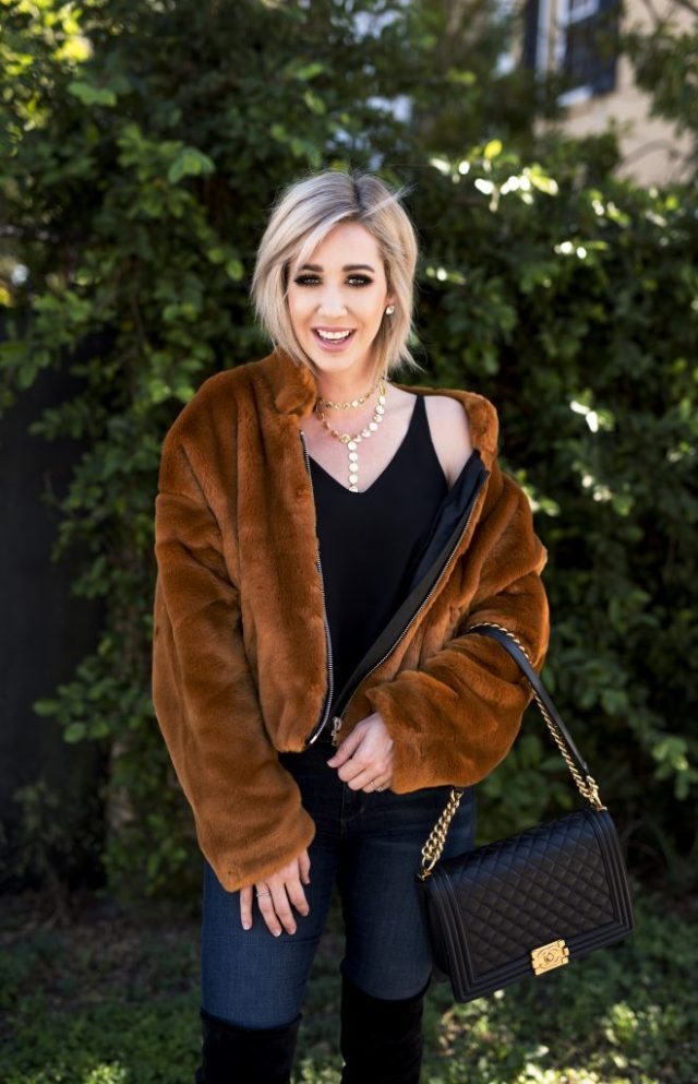 free people faux fur bomber jacket