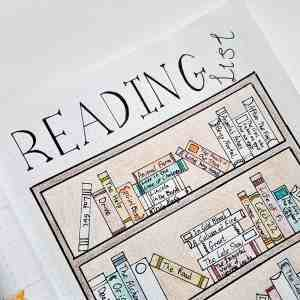 Reading Tracker | Bullet Journal | A selection of great bullet journal tracker ideas for keeping up with the books, movies and TV shows you want to read and see! Track all your entertainment options with these spreads.
