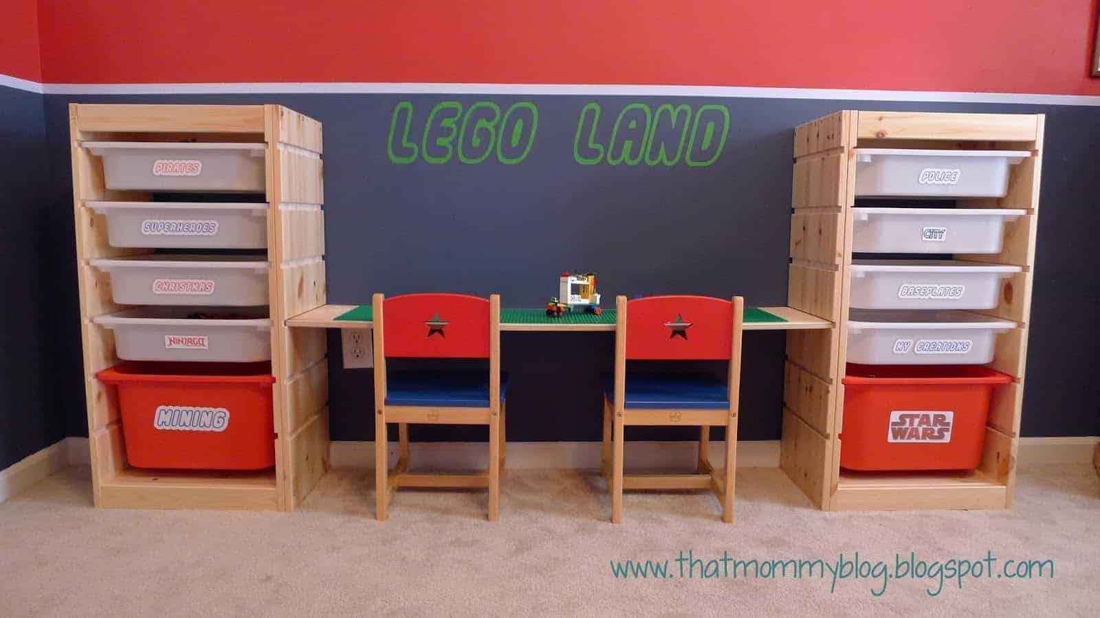 Lego Storage Ideas | AWESOME Lego storage ideas to keep your kids sets, minifigs and pieces organized.