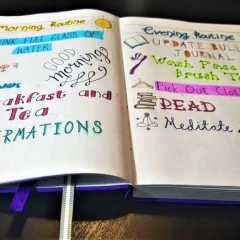 Find the Perfect Bullet Journal Routine for Mornings & Evenings