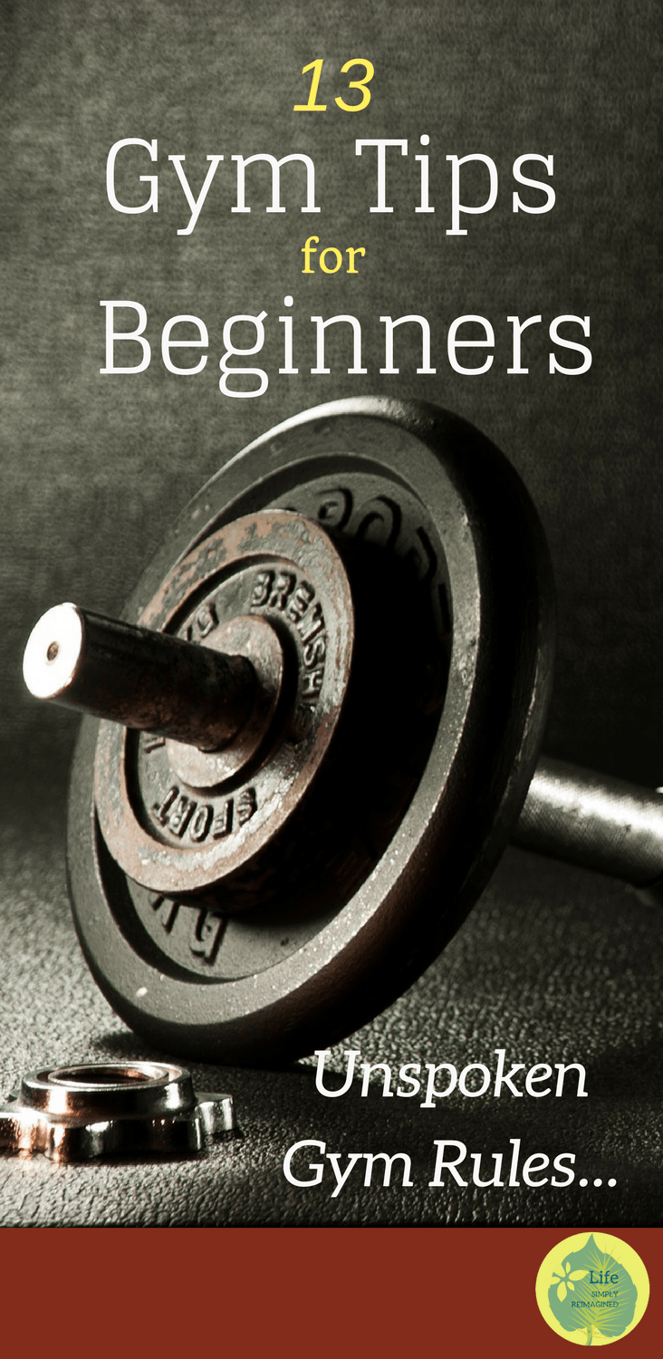 Pinterest Pin - Gym Tips for Beginners