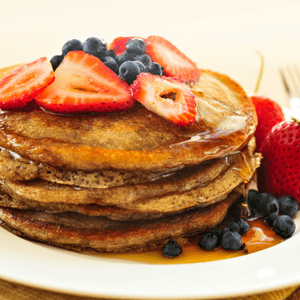 Cinnamon Cream Cheese Fathead Pancakes - low carb pancake recipe
