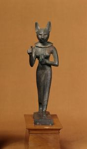 Egyptian_-_Statuette_of_a_Standing_Bastet_-_Walters_54408