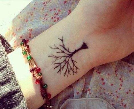 Tatuaggi piccoli polso albero