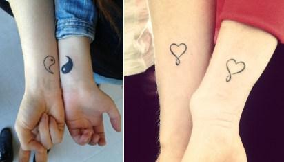 Tatuaggi piccoli polso coppia abbinati
