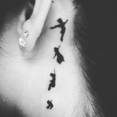 tatuaggi piccoli femminili peter pan