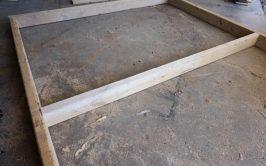 pallet headboard frame