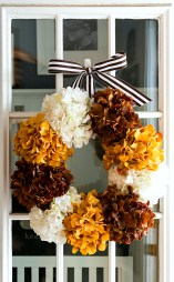 DIY Hydrangea Wreath for Fall