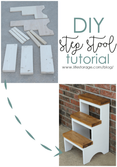 Easy DIY step stool woodworking plans free