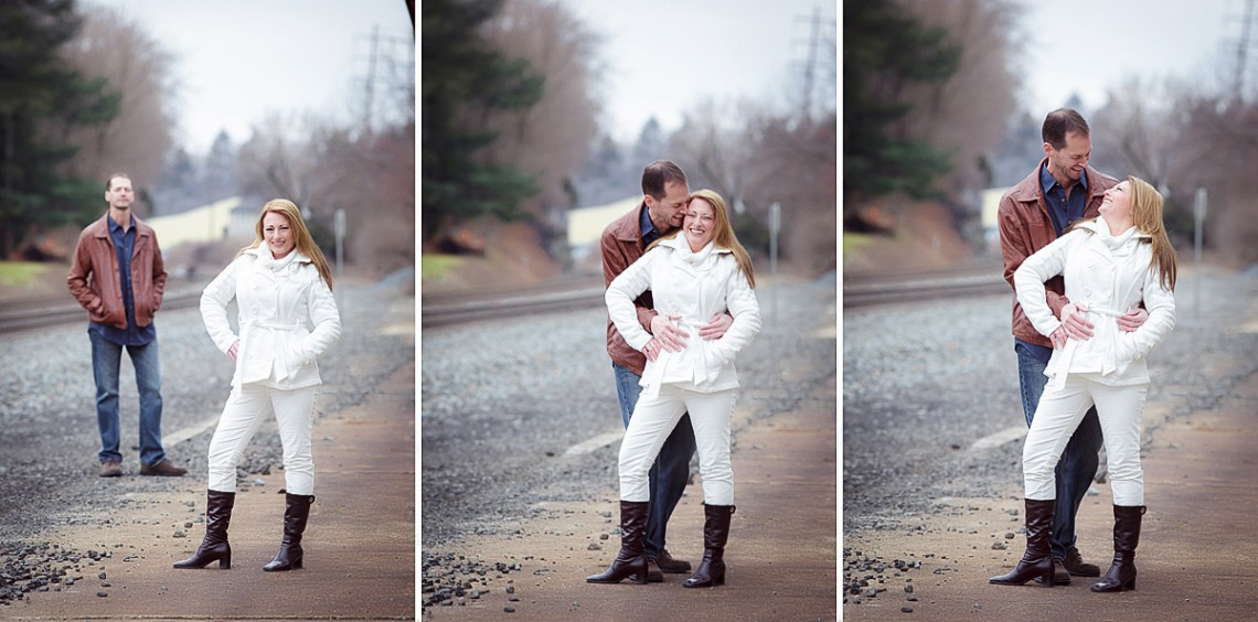train track engagement photos berks county pa