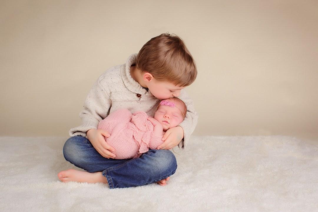 newborn girl with big brother